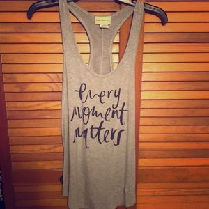 Every moment matters tank top
